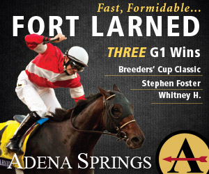 Fast Formidable FORT LARNED 3-time G1 Winner